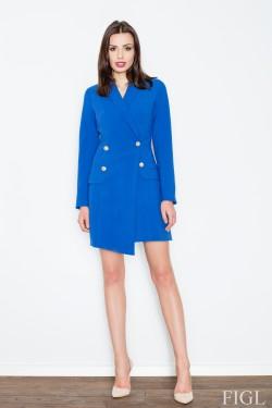 Dámský kabát M447 blue