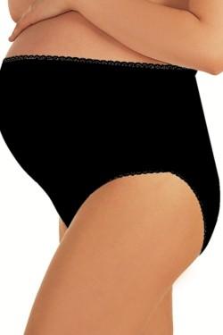 Těhotenské kalhotky Mama maxi black