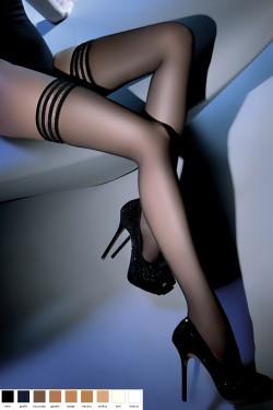 Samodržící punčochy Calze Lux beige