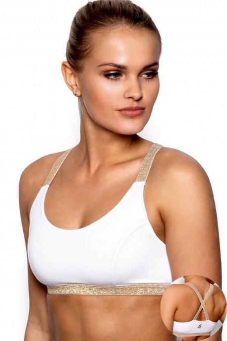Fitness top Areta white